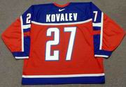 ALEX KOVALEV 2002 Team Russia Nike Olympic Throwback Hockey Jersey