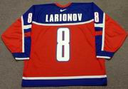 IGOR LARIONOV 2002 Team Russia Nike Olympic Throwback Hockey Jersey