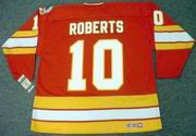 GARY ROBERTS Calgary Flames 1989 CCM Vintage Throwback Away NHL Hockey Jersey