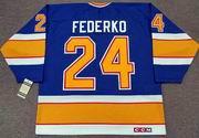BERNIE FEDERKO St. Louis Blues 1989 CCM Vintage Throwback NHL Hockey Jersey
