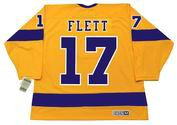 BILL FLETT Los Angeles Kings 1970 CCM Vintage Throwback Home NHL Jersey