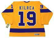 BRIAN KILREA Los Angeles Kings 1967 CCM Vintage Throwback Home NHL Jersey