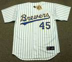 ROB DEER Milwaukee Brewers 1990 Majestic Cooperstown Home Jersey