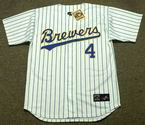 PAUL MOLITOR Milwaukee Brewers 1991 Majestic Cooperstown Home Jersey