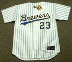 GREG VAUGHN Milwaukee Brewers 1993 Majestic Cooperstown Home Jersey
