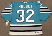 KELLY HRUDEY San Jose Sharks 1997 CCM Vintage Throwback NHL Hockey Jersey