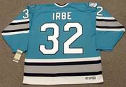 ARTURS IRBE San Jose Sharks 1993 CCM Vintage Throwback NHL Hockey Jersey