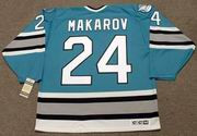 SERGEI MAKAROV San Jose Sharks 1993 CCM Vintage Throwback NHL Hockey Jersey