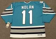 OWEN NOLAN San Jose Sharks 1996 CCM Vintage Throwback NHL Hockey Jersey