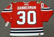 MURRAY BANNERMAN Chicago Blackhawks 1983 CCM Throwback Away NHL Jersey