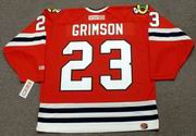 STU GRIMSON Chicago Blackhawks 1991 CCM Throwback NHL Hockey Jersey