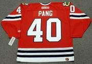 DARREN PANG Chicago Blackhawks 1987 CCM Throwback NHL Hockey Jersey