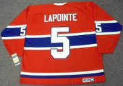 GUY LAPOINTE Montreal Canadiens 1971 CCM Vintage Throwback NHL Hockey Jersey