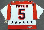 "DENIS POTVIN 1984 Wales ""All Star"" CCM Vintage Throwback NHL Hockey Jersey"