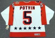 "DENIS POTVIN 1984 Wales ""All Star"" CCM Vintage Throwback NHL Hockey Jersey"