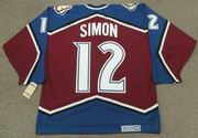 CHRIS SIMON Colorado Avalanche 1996 CCM Vintage Throwback NHL Hockey Jersey