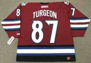 PIERRE TURGEON Colorado Avalanche 2005 CCM Throwback Alternate NHL Hockey Jersey