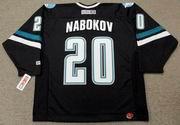 EVGENI NABOKOV San Jose Sharks 2002 CCM Throwback Alternate NHL Jersey