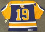 JIM FOX Los Angeles Kings 1984 CCM Vintage Away NHL Hockey Jersey
