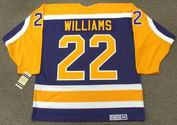TIGER WILLIAMS Los Angeles Kings 1986 CCM Vintage Away NHL Hockey Jersey