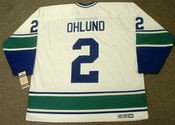 MATTIAS OHLUND Vancouver Canucks 1970's CCM Vintage Throwback Away NHL Jersey