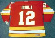 JAROME IGINLA Calgary Flames 1989 CCM Vintage Throwback Away NHL Hockey Jersey