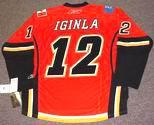 JAROME IGINLA Calgary Flames REEBOK Premier Home NHL Hockey Jersey