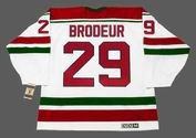"MARTIN BRODEUR New Jersey Devils 1992 CCM Vintage Throwback ""Rookie"" Home Jersey"