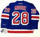 DOMENIC MOORE New York Rangers REEBOK Premier Home NHL Hockey Jersey