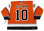 JOHN LeCLAIR Philadelphia Flyers 2003 CCM Throwback Alternate NHL Hockey Jersey