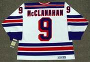 ROB McCLANAHAN New York Rangers 1982 CCM Vintage Home NHL Hockey Jersey