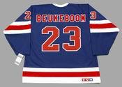 JEFF BEUKEBOOM New York Rangers 1991 CCM Vintage Throwback NHL Hockey Jersey