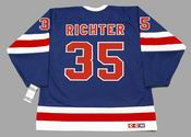 MIKE RICHTER New York Rangers 1991 CCM Vintage Throwback NHL Hockey Jersey