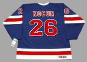 JOEY KOCUR New York Rangers 1991 CCM Vintage Throwback NHL Hockey Jersey