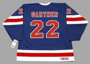MIKE GARTNER New York Rangers 1991 CCM Vintage Throwback NHL Hockey Jersey