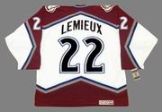 CLAUDE LEMIEUX Colorado Avalanche 1996 CCM Vintage Home NHL Hockey Jersey