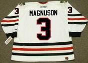 KEITH MAGNUSON Chicago Blackhawks 1977 CCM Throwback Home NHL Hockey Jersey