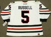 PHIL RUSSELL Chicago Blackhawks 1977 CCM Throwback Home NHL Hockey Jersey