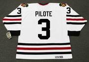 PIERRE PILOTE Chicago Blackhawks 1967 CCM Vintage Throwback NHL Hockey Jersey