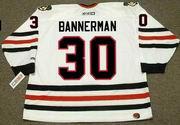 MURRAY BANNERMAN Chicago Blackhawks 1983 CCM Throwback Home NHL Jersey