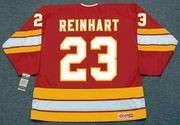 PAUL REINHART Calgary Flames 1984 CCM Vintage Throwback NHL Hockey Jersey
