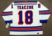 WALT TKACZUK New York Rangers 1972 CCM Throwback Home Hockey Jersey