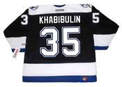 NIKOLAI KHABIBULIN Tampa Bay Lightning 2004 CCM Throwback Home NHL Jersey