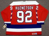 EVGENY KUZNETSOV Washington Capitals CCM Vintage Throwback Home NHL Jersey