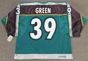 TRAVIS GREEN Anaheim Mighty Ducks 1997 CCM Throwback Alternate NHL Jersey