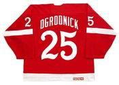 JOHN OGRODNICK Detroit Red Wings 1982 CCM Vintage Throwback NHL Hockey Jersey
