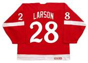 REED LARSON Detroit Red Wings 1982 CCM Vintage Throwback NHL Hockey Jersey