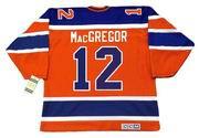 BRUCE MacGREGOR Edmonton Oilers 1974 CCM Vintage WHA Hockey Jersey