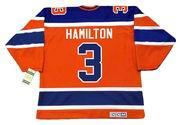 AL HAMILTON Edmonton Oilers 1974 CCM Vintage WHA Hockey Jersey