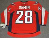ALEXANDER SEMIN Washington Capitals REEBOK Home NHL Hockey Jersey